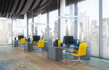 Zdjęcie nowoczesnego wnętrz biurowego